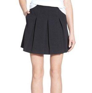 Madewell Jacquard Pleated Mini Skirt
